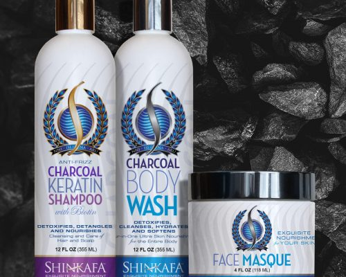 Charcoal Hair & Skin Care Bundle